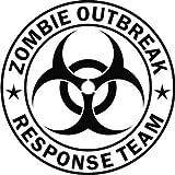 www.tdcdecals.com Zombie Outbreak Response Team Black Die-Cut Vinyl Decal Sticker