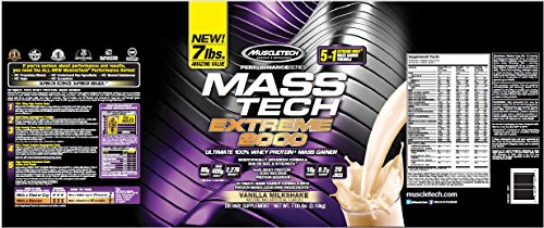 MuscleTech Mt Performance Series Mass Tech Extreme 2000, 7 Pound