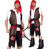 : Men pirate costume halloween corsair dress 3002 (M)