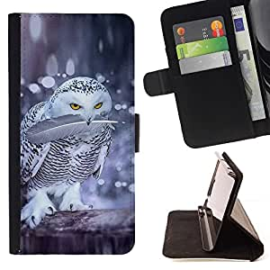 Momo Phone Case / Flip Funda de Cuero Case Cover - Oiseaux Nature Hiver - LG OPTIMUS L90