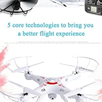 Cewaal 3 Battery WIFI Camera Drone FPV 2.4Ghz 4CH 6-Axis RC Quadcopter HD RTF WHITE Toy