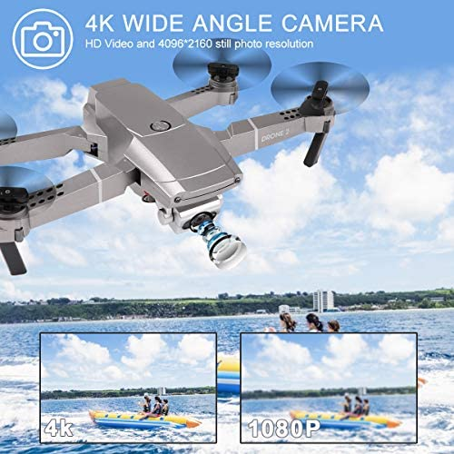 FPV WiFi Drone with 4K Camera Live Video 4CH 6-Axis Gyro Foldable RC Drone Quadcopter for Beginners with Altitude Hold, Mini Drone for Kids Boys 8-12 Years Old