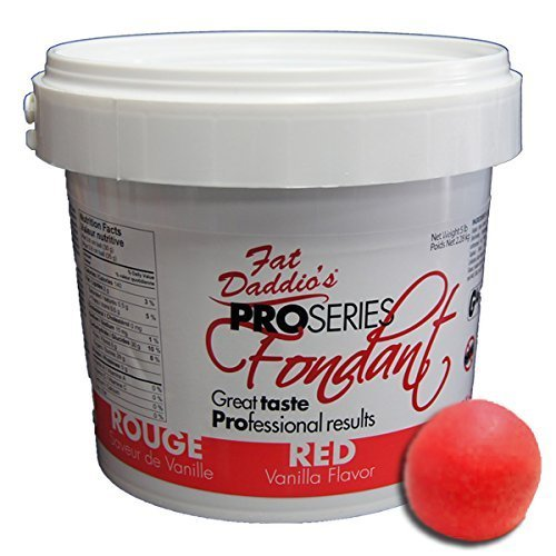 Fat Daddio's Pro Series Fondant Red Vanilla 5 lb