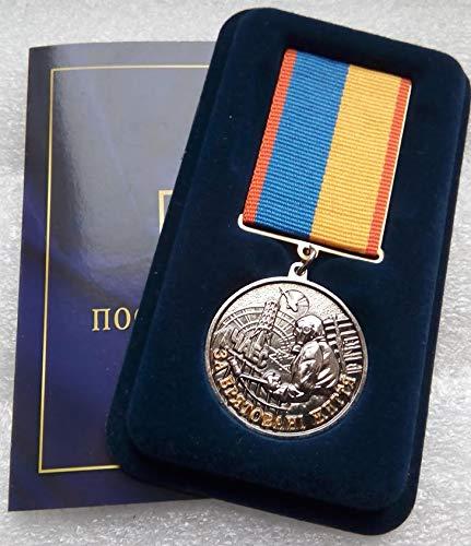 CHERNOBYL LIQUIDATOR STALKER FOR THE SAVING LIVES Disaster USSR Soviet Union Russian Ukrainian Nuclear Tragedy ecological catastrophy medal