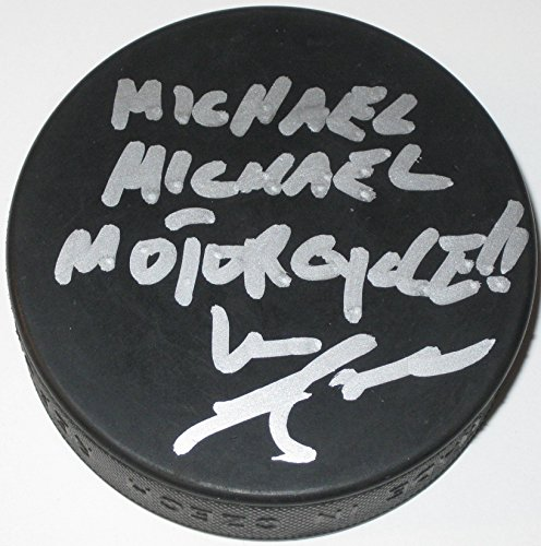 Mike Lange, Pittsburgh Penguins, Signed, Autographed, Hockey Puck, A COA with the Proof Photo Will Be Included ()
