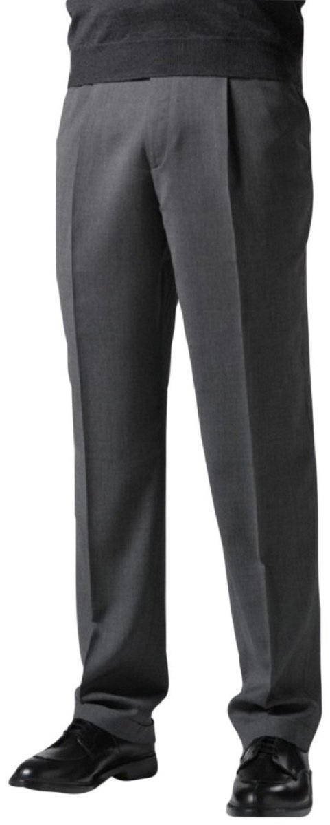 Knightsbridge Comfort Stretch Blend Wool Mens Dress Pants - 1 Pleat Brown 38