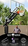 Pro Dunk Diamond Rust Armor Package: Ultimate Adjustable in-Ground Basketball Goal System 72 Inch Backboard 12x8 Inch Pole 5 Foot Extension Outdoor Backyard Courts Institutions