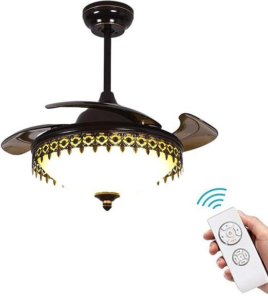 YZPFSD Ventilador de Techo retráctil Americano Control Remoto ...
