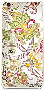 Iphone 6 Plus / 6 Plus S Transparent TPU Silicone Case with Floral Vintage Design