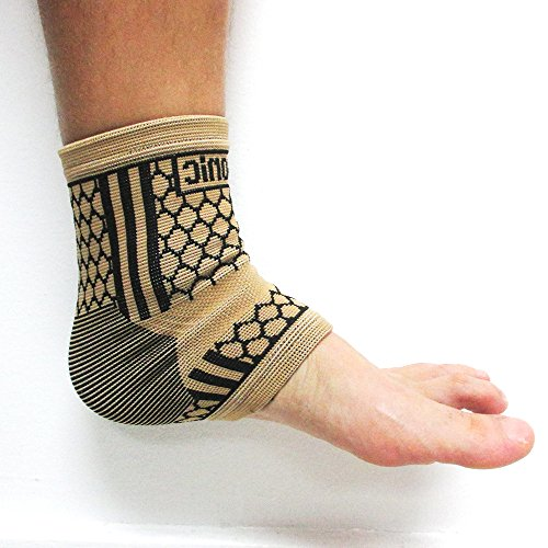 2 Ankle Brace Support Elastic Compression Wrap Sleeve Sports Relief Foot Pain L