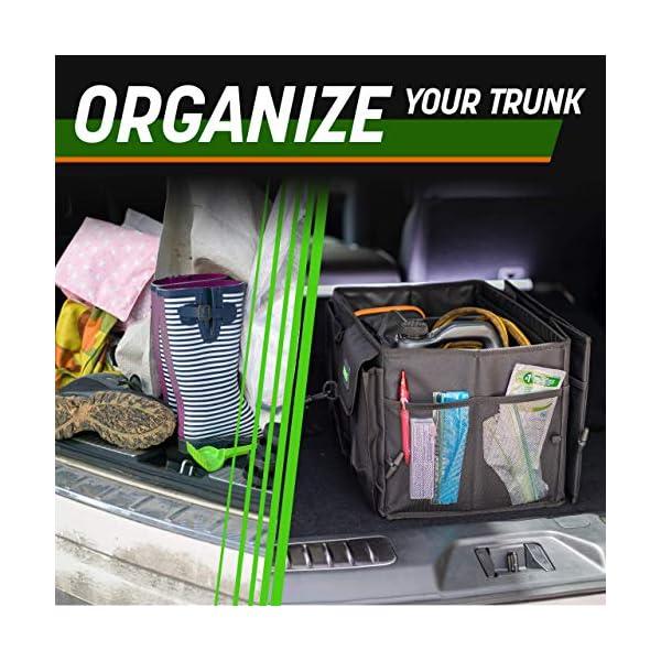 51nyc0ybP1L Drive Auto Products Kofferraum Organizer - Praktische Kofferraumtasche mit Fächern - Einkaufskorb, Aufbewahrungsbox für…