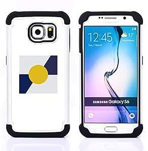 - SUN MINIMALIST BLUE WHITE POSTER - - Doble capa caja de la armadura Defender FOR Samsung Galaxy S6 G9200 RetroCandy