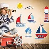 Harry & Bear Stickers muraux Motif voiliers