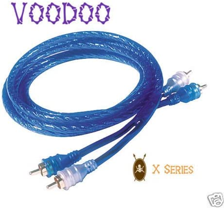 VOODOO New Car Audio RCA Interconnect Cable Blue OFC Copper 9.6 FT