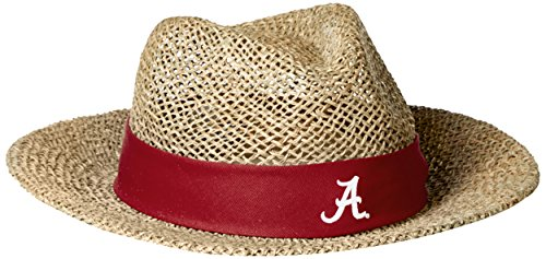 [NCAA Alabama Crimson Tide Straw Safari Hat, One Size, Red] (Straw Safari Hat)