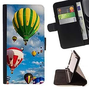 - Balloon ball Colourful Air - - Caja de la carpeta del tirš®n del cuero de la PU [con ranuras para tarjetas y cierre de solapa magnšŠtica] Pš¢rese cubierta de la caja FOR Apple iPhone 6 6S 4.7 Skull Market