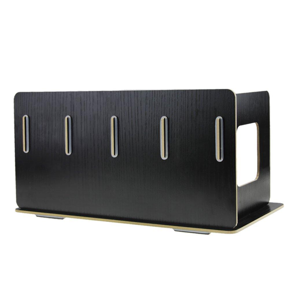 color negro 4/Compartimiento libro de archivos almacenar Estanter/ía revistero revistero de pie carpeta para coleccionistas Cat/álogo coleccionistas Organizador de escritorio de madera
