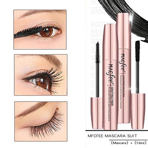 4D Mascara Cream Makeup Lash Cold Waterproof Mascara Eye Black Eyelash Extension Crazy- long Style Warm Water Washable Mascara -
