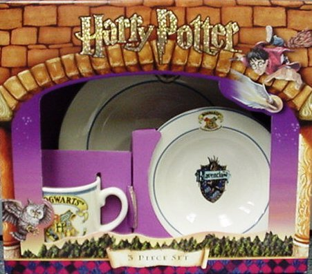 Hogwarts Wedgwood 3 Piece Set Plate, Bowl and Mug