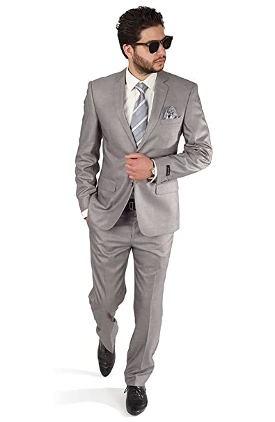 Amazon.com: AZAR MAN Slim Fit Traje de solapa para hombre ...