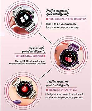 da Donna Smartwatch alla Moda Braccialetto Intelligente da Donna QIANRUNHE H2 cardiofrequenzimetro con contapassi