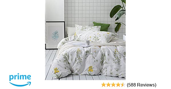 amazon com wake in cloud botanical duvet cover set 100 cotton