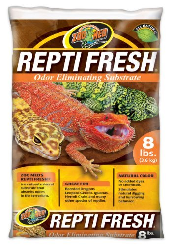 Calcium Substrate (Zoo Med ReptiFresh Odor Eliminating Substrate, Blacks & Grays, 8 lb)