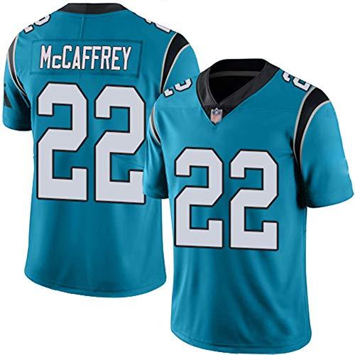 Hombres Camiseta de fútbol Americano Panthers # 22 McCaffrey, Jersey de Rugby, Camisetas de fútbol Americano Boutique…