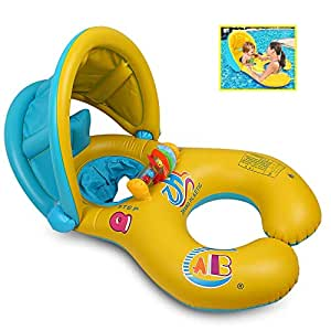 QIN-KEJI Inflable Madre Bebé Piscina natación anillo,Bebé Inflable ...