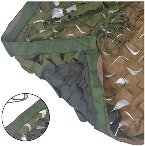 軍事装飾シェードネットを撮影キャンプ狩猟(GREEN_4 * 10M)のための野外活動カモネッティングカモフラージュネットブラインド、 (Color : Green, Size : 9*9M(29.5*29.5ft))