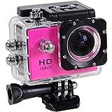 Wifi 1080P Full HD 30M Waterproof Sports Action Camera Bicycle Helmet Car Pink