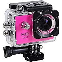 Wifi 1080P Full HD 30M Waterproof Sports Action Camera Bicycle Helmet Car Pink