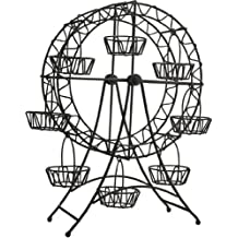 "Home Essentials-Black Metal Ferris Wheel Cupcake Rack 14"" X 5.71"" X 16""H Photo Gift Box"