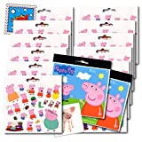 Peppa Pig Stickers Party Favors Pack - 12 Sheets of Peppa and Friends Stickers & 2 Specialty Separately Licensed Prize Reward Stickers