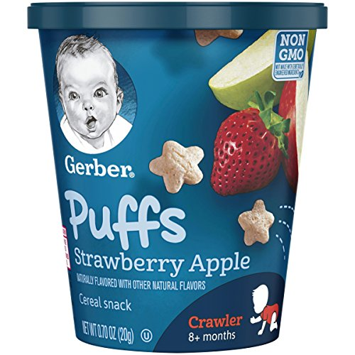 - Gerber Puffs Strawberry AppleSnack Cup, 0.70 Ounce,8 Count