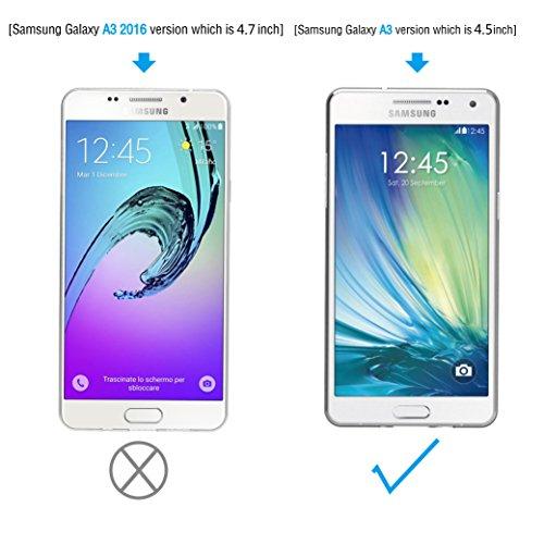 AICEK Funda Samsung Galaxy A3 2015, Samsung Galaxy A3 2015 (A300F/A300FU) Funda Transparente Gel Silicona Galaxy A3 2015 Carcasa para Samsung Galaxy ...
