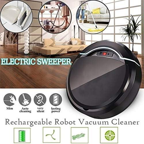 WFFH USB Rechargeable Automatique Robot Aspirateur, Tenue soignée Sweeper, Nettoyage Performant Sol Robot, Pet Hair, Tapis, planchers durs