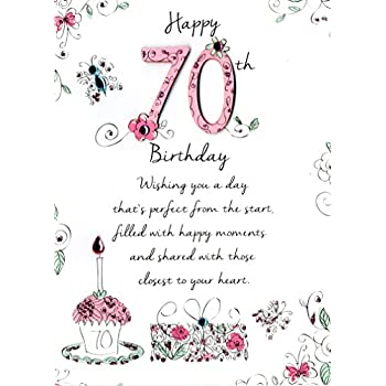 Just To Say Female 70Th Birthday Greeting Card Second Nature Cards