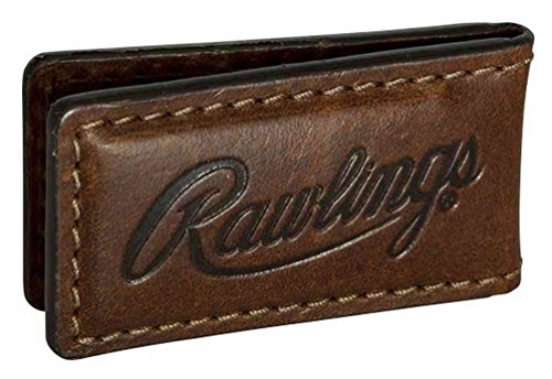 Brown Embossed Leather Money Clip - Rawlings Leather American Handcrafted Money Clip Wallet (Brown)