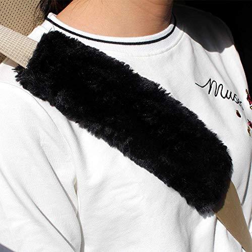 (GAMPRO 2-Pack Black Auto Car Seat Belt Cover Plush Seat Shoulder Pad,Car Safety Seat Belt Strap Shoulder Pad for Adults and Children, Suitable for Car Seat Belt, Backpack, Shoulder Bag)