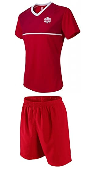 2c4b53b40c8 JerzeHero Canada Home Youth Kids Soccer Jersey 2 in 1 Gift Set ✓ Soccer  Jersey ✓ Shorts ✓ Home or Away