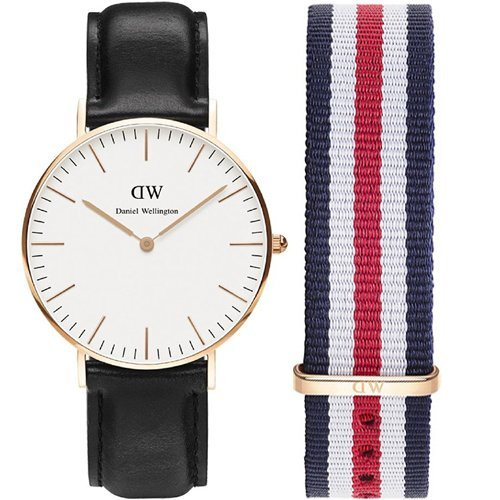 PACK RELOJ DANIEL WELLINGTON MEDIANO UNISEX 36mm ORO ROSA: Amazon.es: Relojes