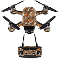 Skin for DJI Spark Mini Drone Combo - Pheasant Feathers| MightySkins Protective, Durable, and Unique Vinyl Decal wrap cover | Easy To Apply, Remove, and Change Styles | Made in the USA