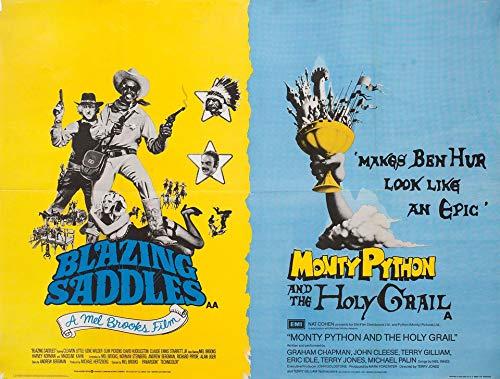 Python Saddle - Blazing Saddles/Monty Python and the Holy Grail R1970s British Quad Poster