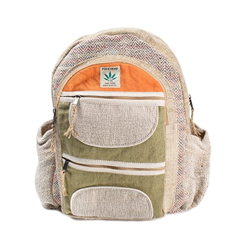 Bodhi Four Light - Maha Bodhi All Natural Handmade Multi Pocket Laptop Backpack - Himalayan Hemp