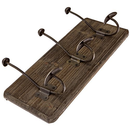 Avignon Rustic Coat Hook Vintage Coat Rack Towel Rack 16 inches wide and 7 inches high (Pack of 2) ()