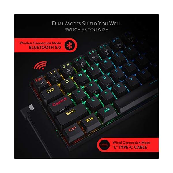 Redragon K530 Draconic 60 Compact RGB Wireless Mechanical Keyboard