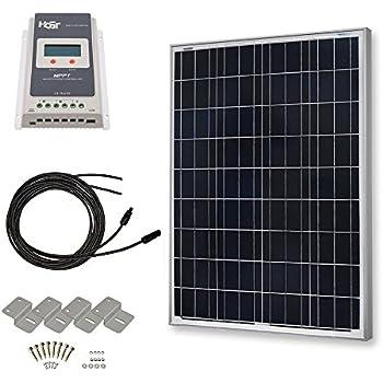 Amazon Com Hqst 100 Watt 12 Volt Polycrystalline Solar