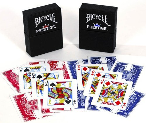 Duraflex All Plastic Bicycle Prestige Playing Cards _ Bundle of 2 Decks (Prestige Bicycle Cards)