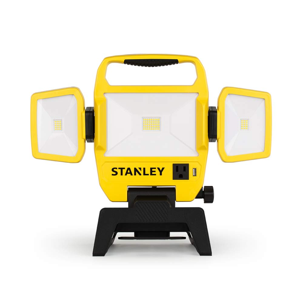 Stanley 5000-Lumen LED Work Light with Stand Provides Ample Lighting with its Long-lasting Integrated LED 4000K 50W Outdoor Lighting by STANLEY